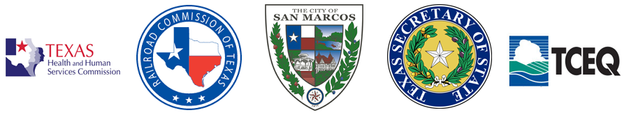 HHSC, RRC, City of San Marcos, Texas Secretary of State, TCEQ