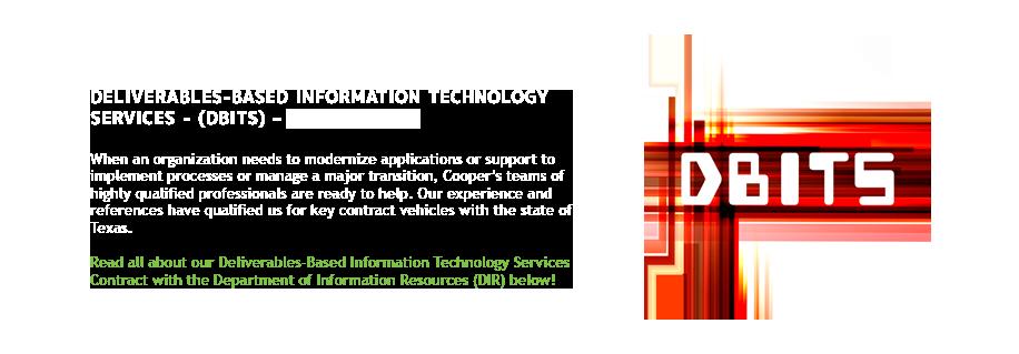 Cooper Consulting Company DBITS Contract DIR-TSO-3904